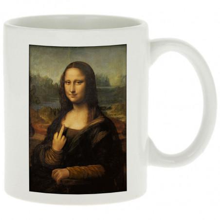 """Mug """"Mona Lisa Fuck"""""""