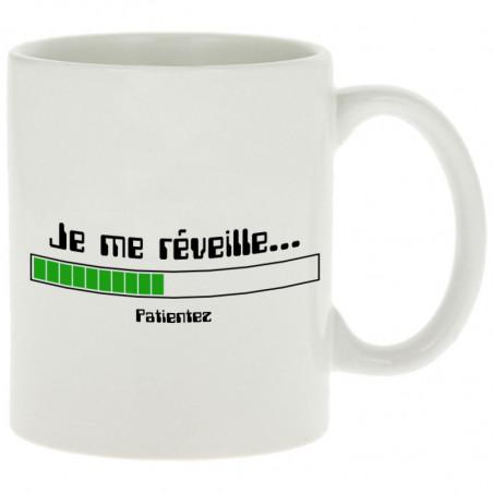 """Mug """"Je me réveille Patientez"""""""