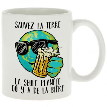 """Mug """"Sauvez la terre Bière"""""""