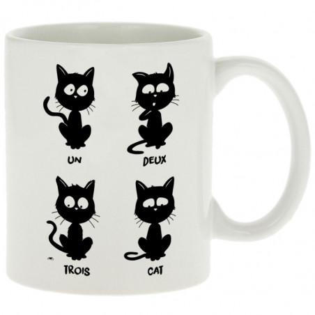 """Mug """"Un deux trois cat"""""""