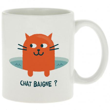 """Mug """"Chat baigne ?"""""""