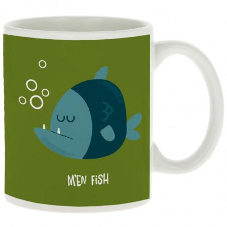 "Mug ""M'en fish (bleu)"""