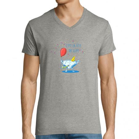"""T-shirt homme col V """"Le..."""