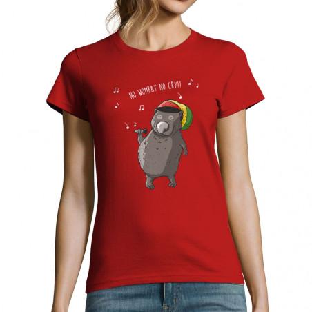 """T-shirt femme """"No wombat no..."""