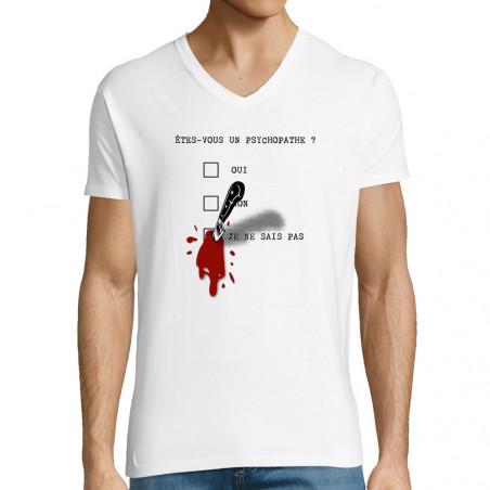 """T-shirt homme col V """"Un..."""