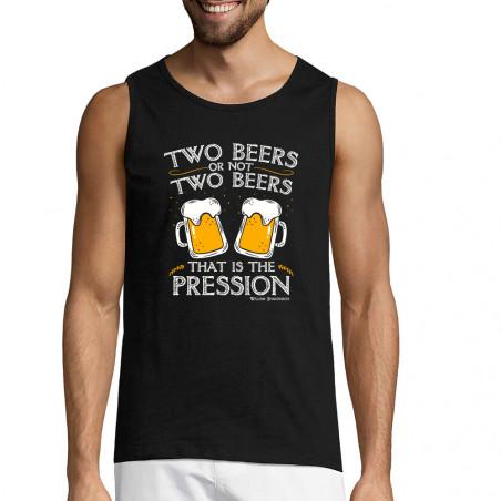 """Débardeur homme """"Two Beers..."""