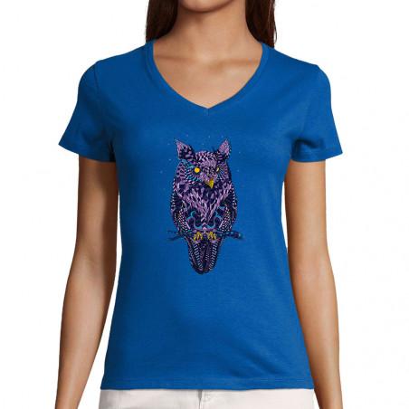 """T-shirt femme col V """"I see..."""