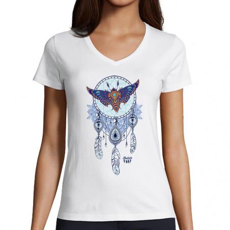 """T-shirt femme col V """"Weird..."""