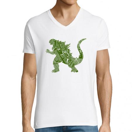 "T-shirt homme col V ""Kaiju..."