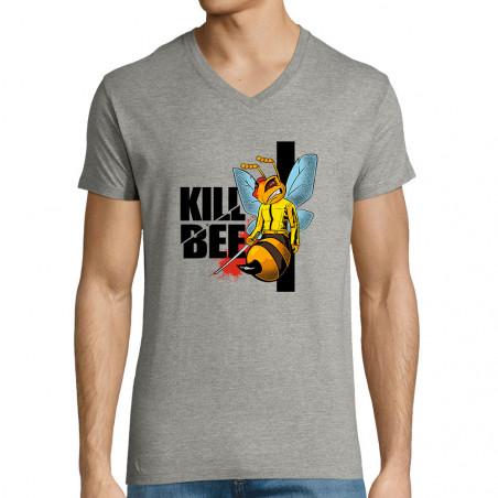 "T-shirt homme col V ""Kill Bee"""