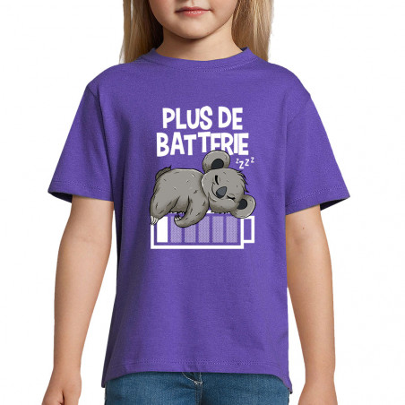 "Tee-shirt enfant ""Plus de..."