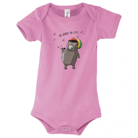 "Body bébé ""No wombat no cry"""