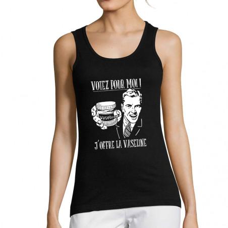 """Débardeur femme """"Votez pour..."""
