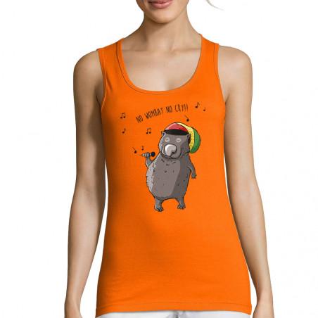 """Débardeur femme """"No wombat..."""