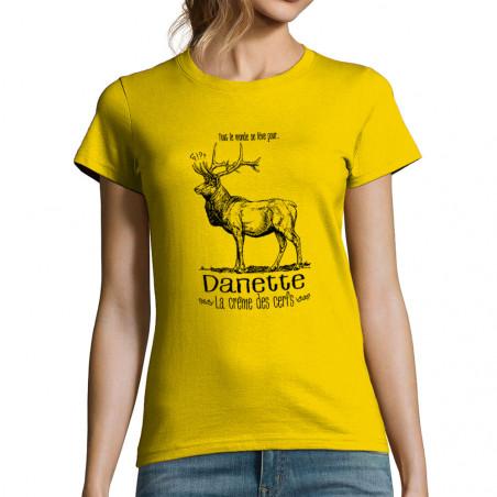 """T-shirt femme """"La crème des..."""