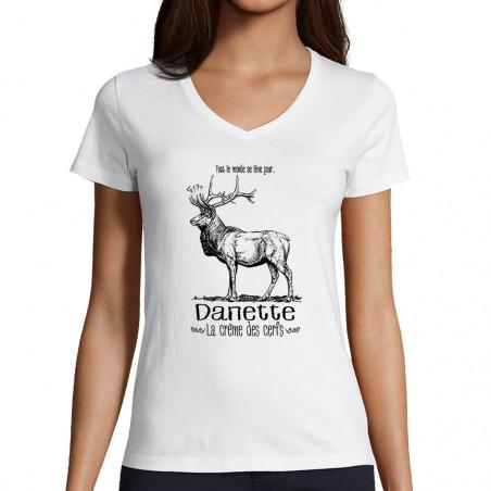 """T-shirt femme col V """"La..."""