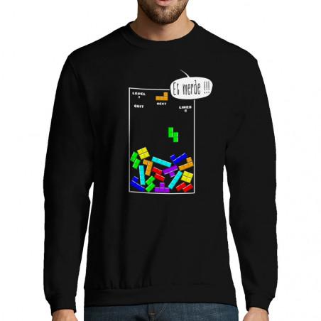 """Sweat-shirt homme """"Tetris..."""