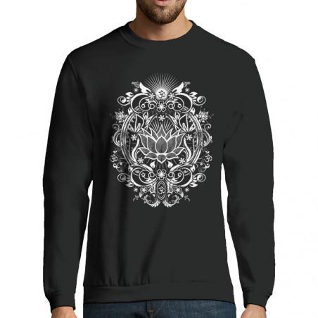 """Sweat-shirt homme """"Lotus..."""