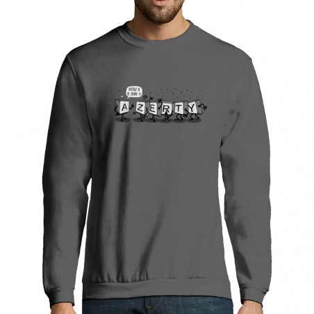 "Sweat-shirt homme ""Azerty"""