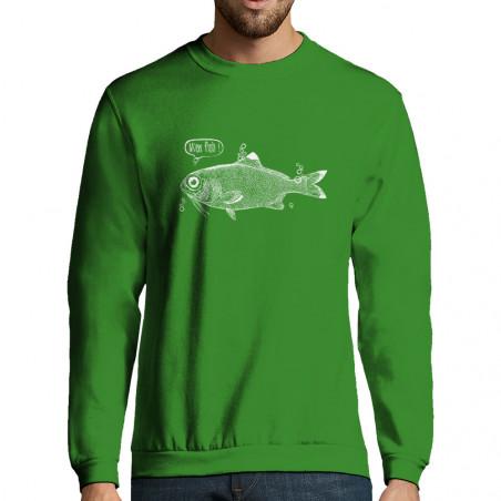 """Sweat-shirt homme """"M'en fish"""""""