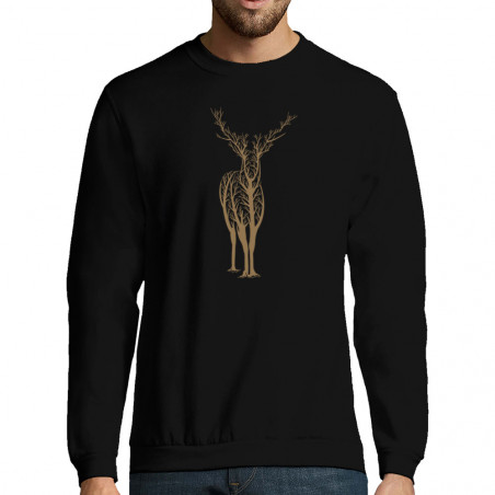 "Sweat-shirt homme ""Deer Trees"""