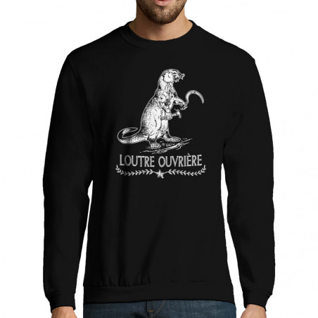 """Sweat-shirt homme """"Loutre..."""
