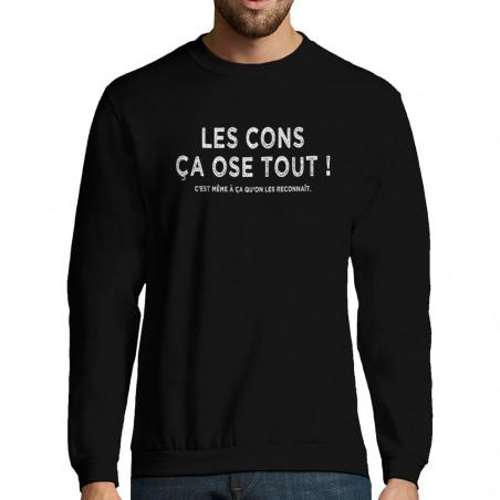 """Sweat-shirt homme """"Les cons..."""
