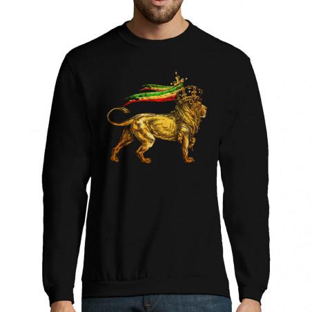 "Sweat-shirt homme ""Rasta Lion"""