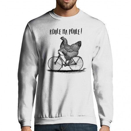"Sweat-shirt homme ""Roule ma..."