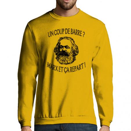 """Sweat-shirt homme """"Marx et..."""