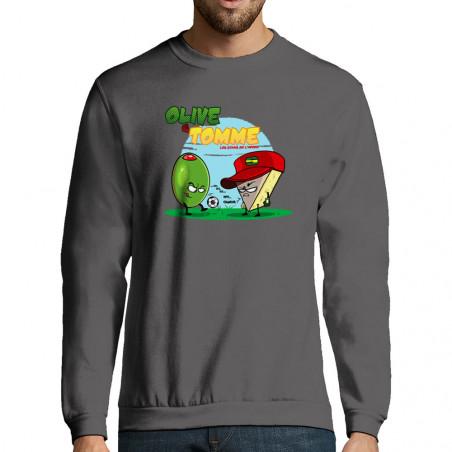 """Sweat-shirt homme """"Olive et..."""