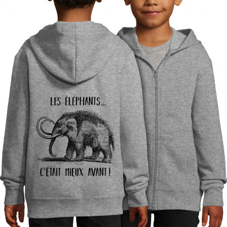 Sweat enfant zippé à...