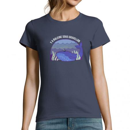 """T-shirt femme """"Y a baleine..."""