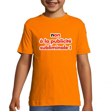 """Tee-shirt enfant """"Publicité..."""