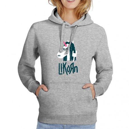 """Sweat femme à capuche """"Likorn"""""""