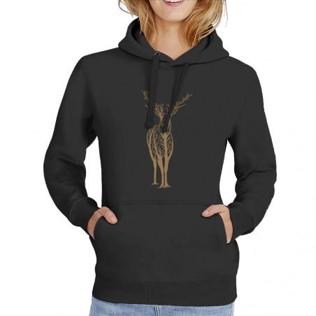 """Sweat femme à capuche """"Deer..."""