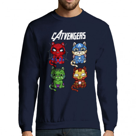 "Sweat-shirt homme ""Catvengers"""