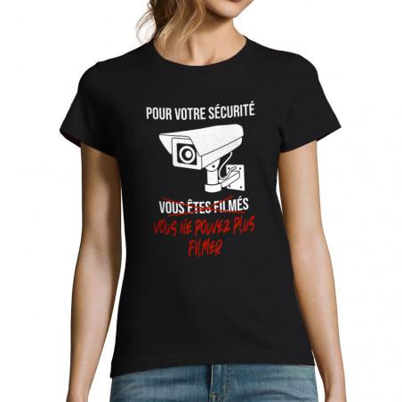 """T-shirt femme """"Plus filmer"""""""