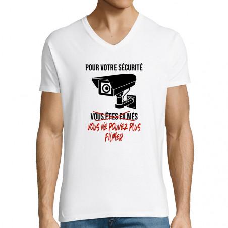 "T-shirt homme col V ""Plus..."