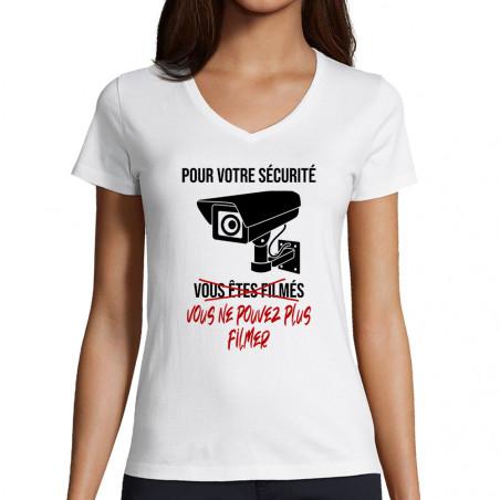 "T-shirt femme col V ""Plus..."