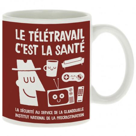 """Mug """"Le télétravail c'est..."""