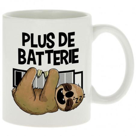 """Mug """"Plus de batterie..."""