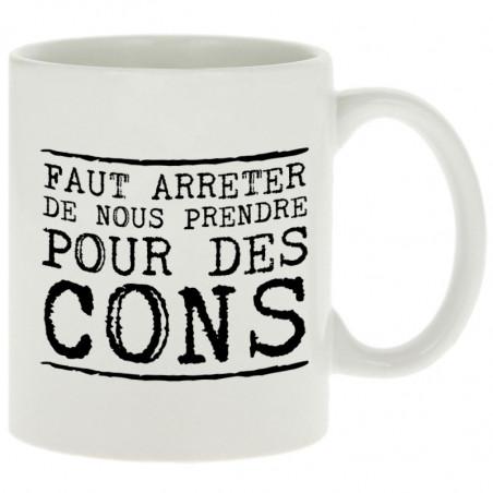 "Mug ""Pour des cons"""