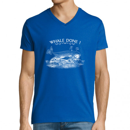 """T-shirt homme col V """"Whale..."""