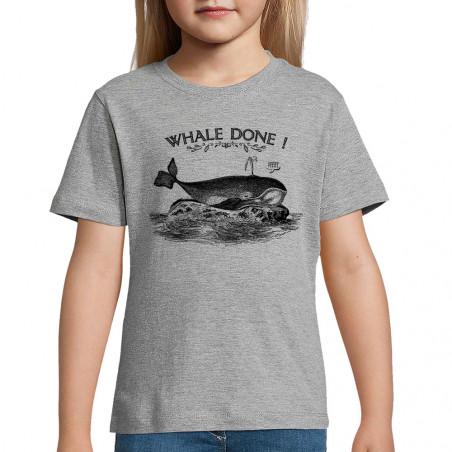 "Tee-shirt enfant ""Whale Done"""