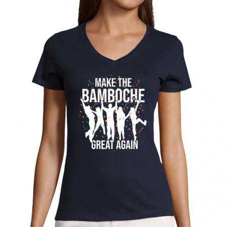 "T-shirt femme col V ""Make..."