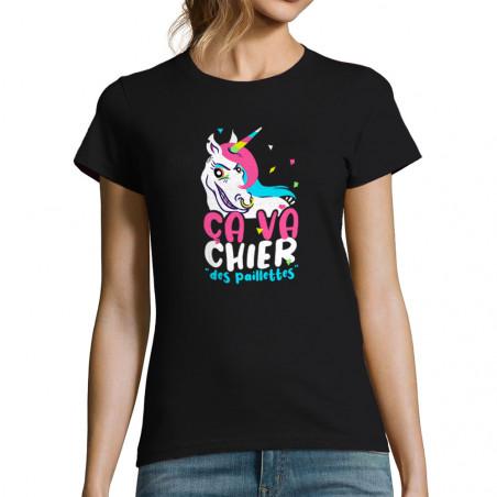"""T-shirt femme """"Ca va chier..."""
