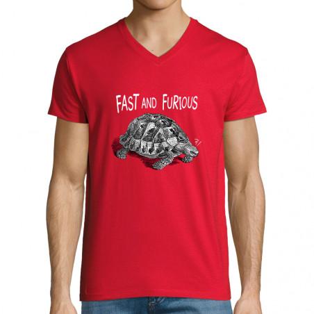 "T-shirt homme col V ""Fast..."