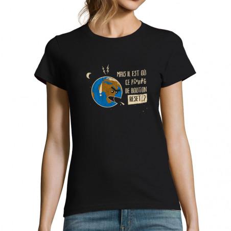 """T-shirt femme """"Bouton Reset"""""""