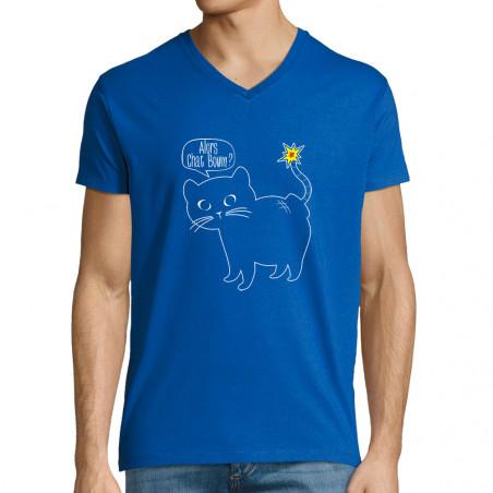 "T-shirt homme col V ""Alors..."